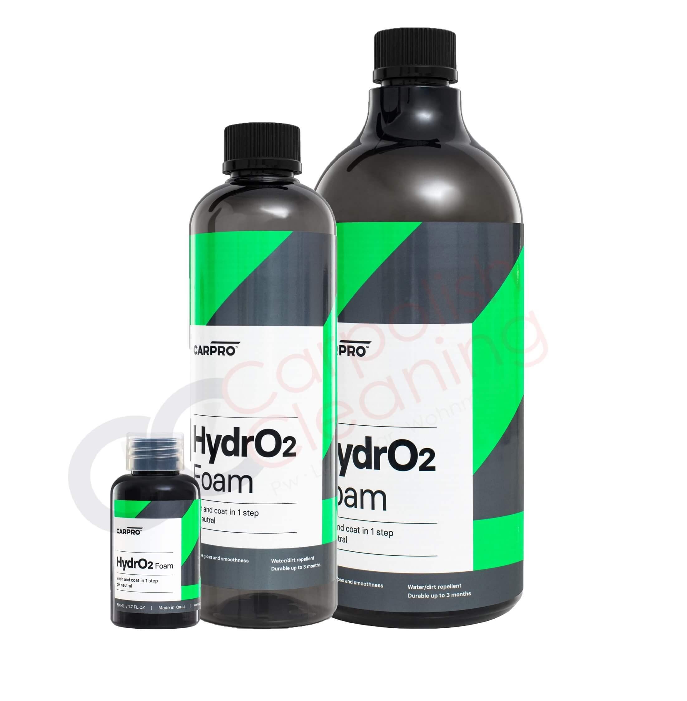 HydroFoam Autoshampoo von CarPro Produktvarianten nebeneinander