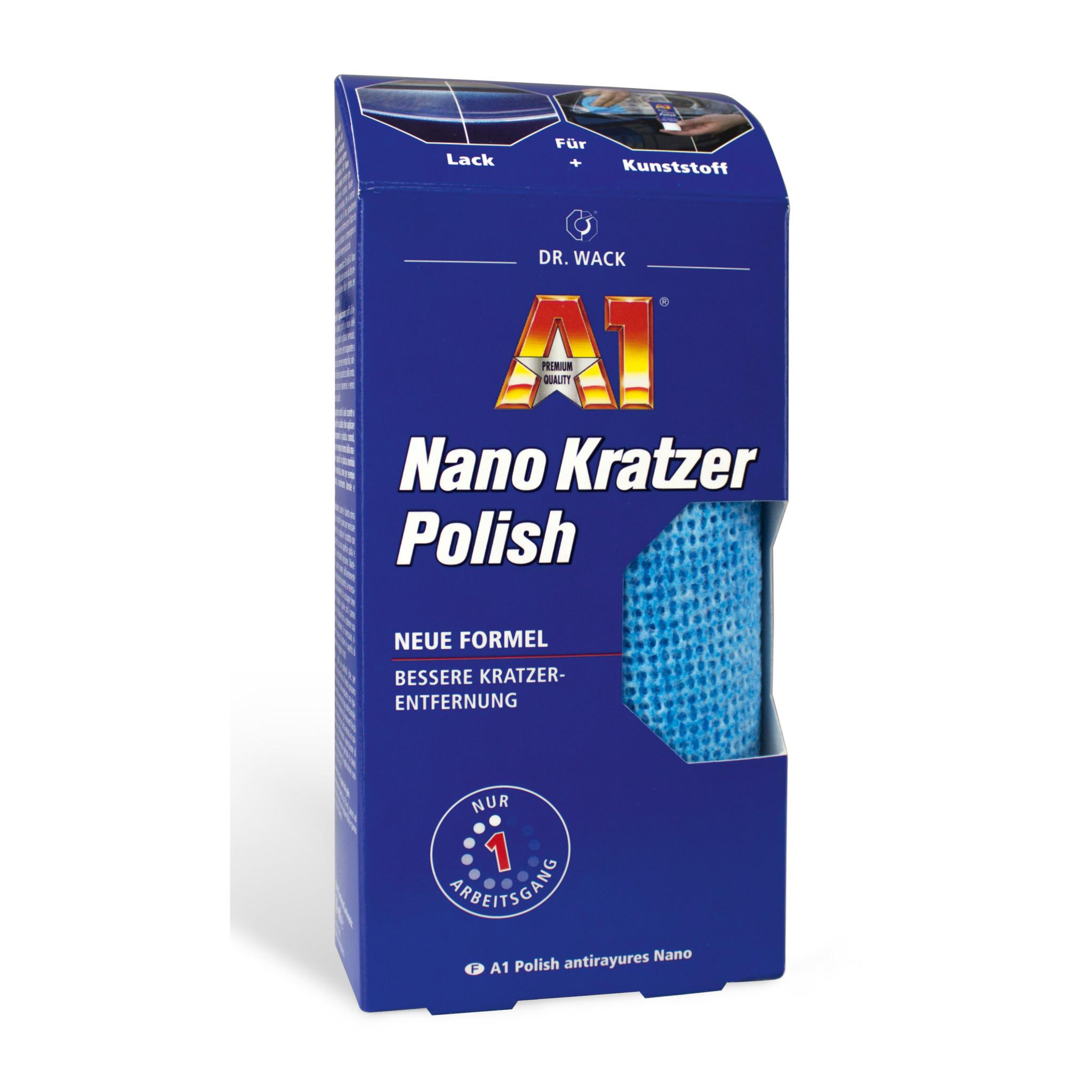 Dr. Wack A1 Nano Kratzer Polish Verpackung Mikrofasertuch für die Politur ist sichtbar
