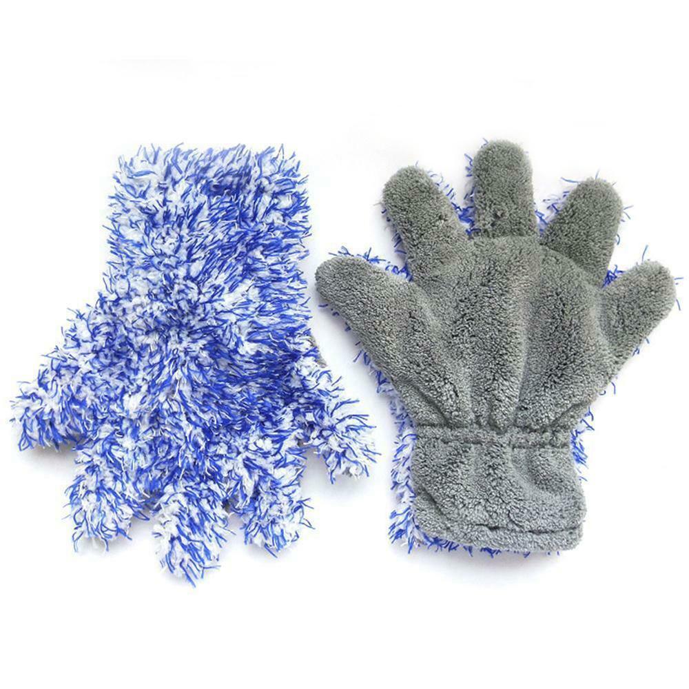 Waschhandschuh blau/grau