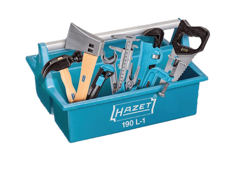 Werkzeugkasten für Kinder bestückt