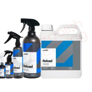 Gruppenbild der Sprühversiegelung Reload von CarPro 50 ml bis 4 Liter