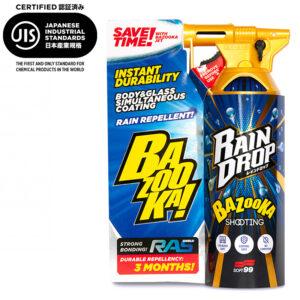 Soft99 Rain Drop Bazooka Verpackung und Produktflasche